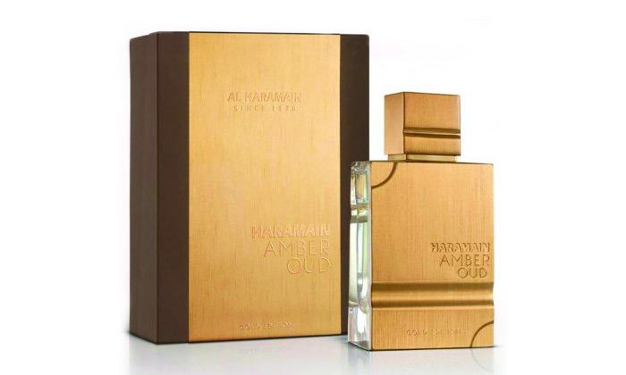 2 בושם לגבר AL HARAMAIN דגם Amber Oud Gold Edition - נפח לבחירה