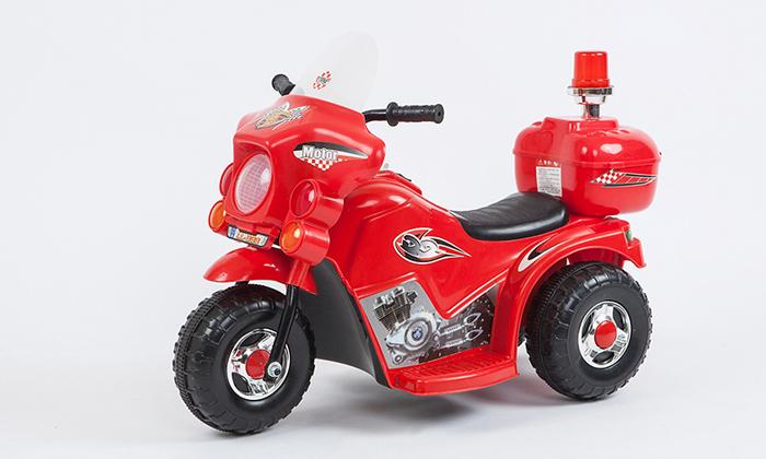 אופנוע ממונע לילדים 6V דגם פוליס