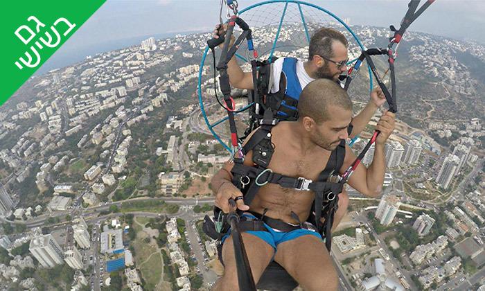 3 טיסה במצנח רחיפה ממונע מעל מפרץ חיפה והכרמל