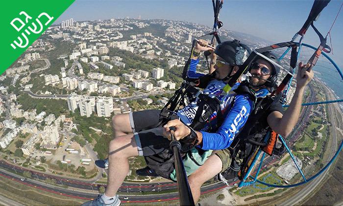 5 טיסה במצנח רחיפה ממונע מעל מפרץ חיפה והכרמל