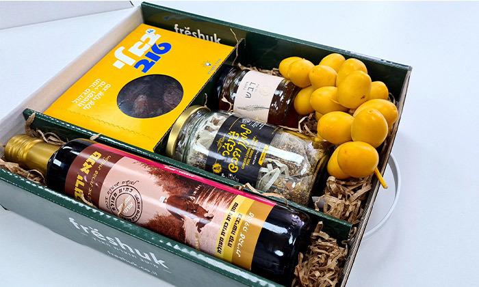 2 מארזי חג כשרים עם שמן זית, דבש, תמרים או יין במשלוח עד הבית