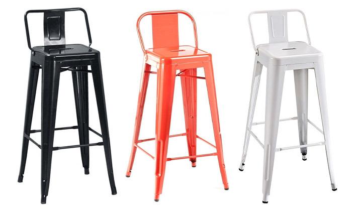 2 כיסא בר גבוה במבחר צבעים