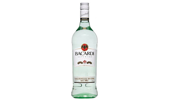 3 בקבוק רום בקרדי קרטה לבן