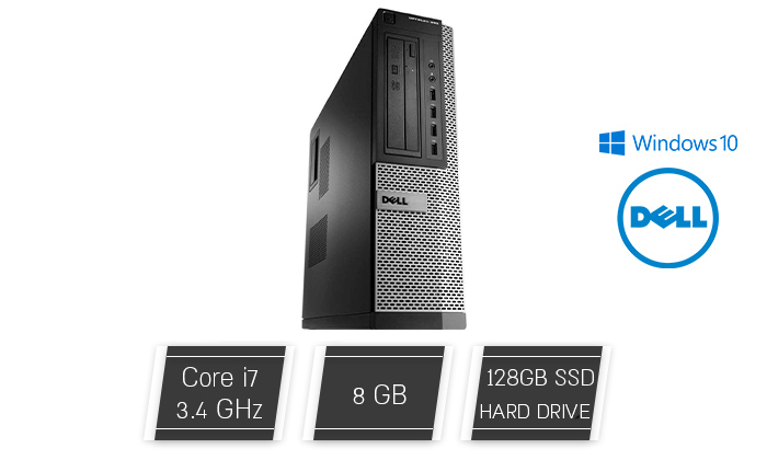 2 מחשב נייח Dell עם מעבד INTEL CORE I7