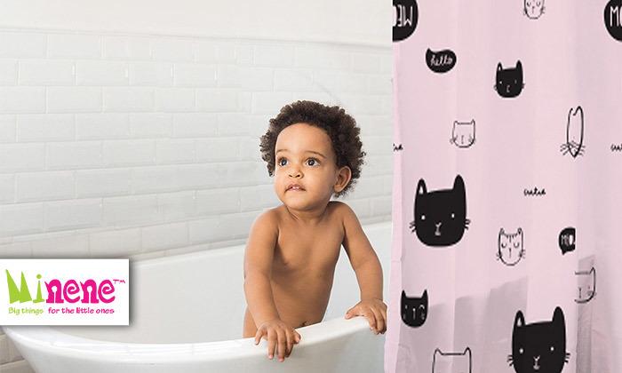 2 וילון אמבטיה מעוצב מיננה MINENE
