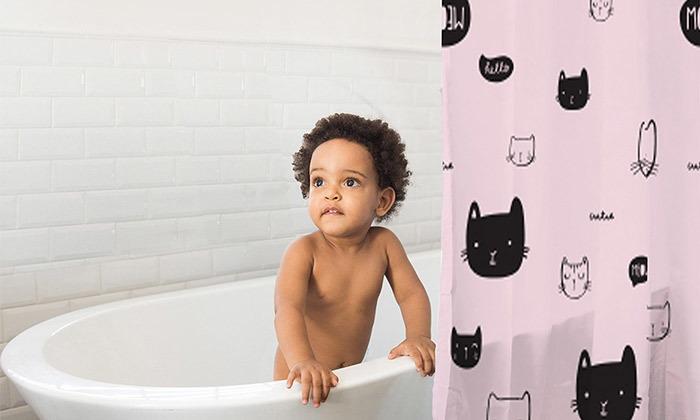 5 וילון אמבטיה מעוצב מיננה MINENE