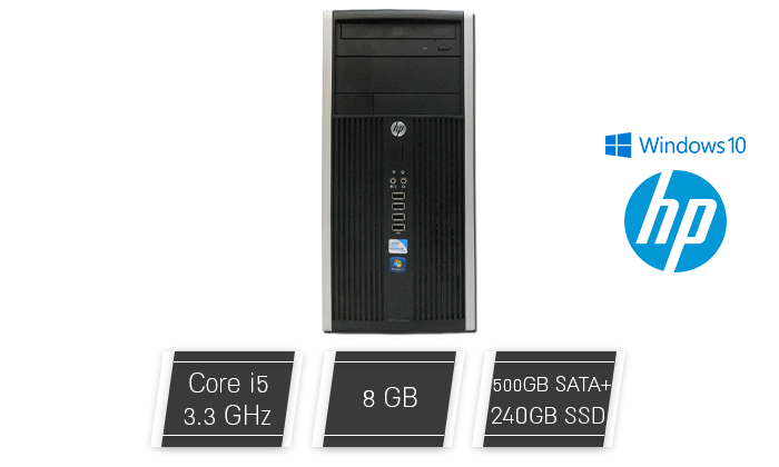 2 מחשב נייחHP עם מעבד I3