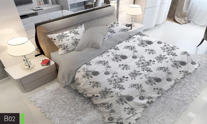 4 סט מצעים אל קמט ROMANTEX למיטת יחיד או זוגית