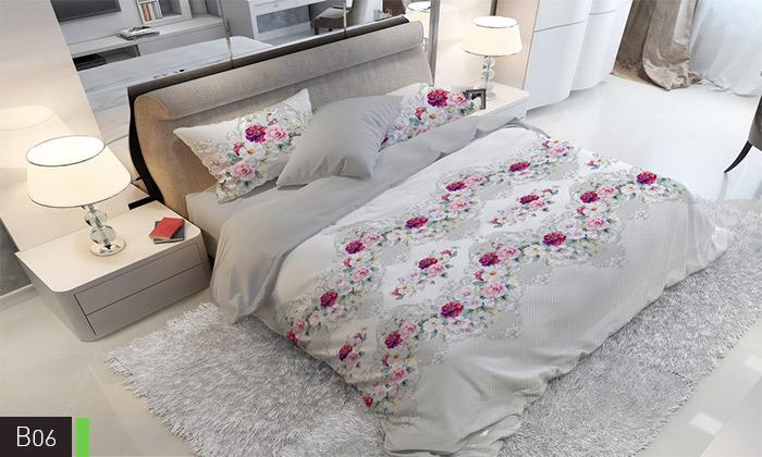 8 סט מצעים אל קמט ROMANTEX למיטת יחיד או זוגית