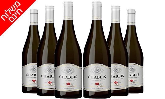 4 מארז 6 בקבוקי יין שאבלי Chablis כשר במשלוח חינם מרשת שר המשקאות