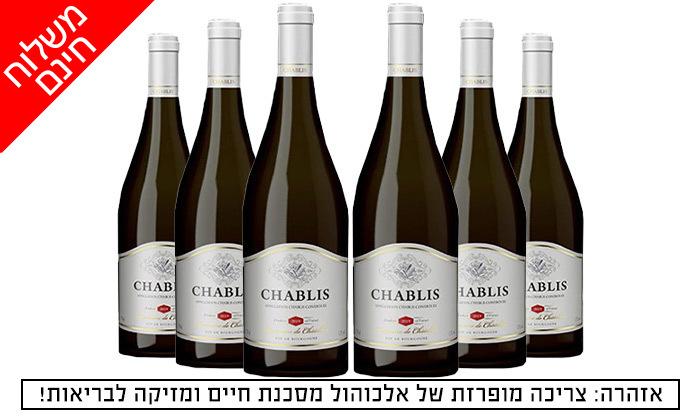 2 מארז 6 בקבוקי יין שאבלי Chablis כשר במשלוח חינם מרשת שר המשקאות