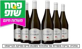6 בקבוקי יין שאבלי כולל משלוח