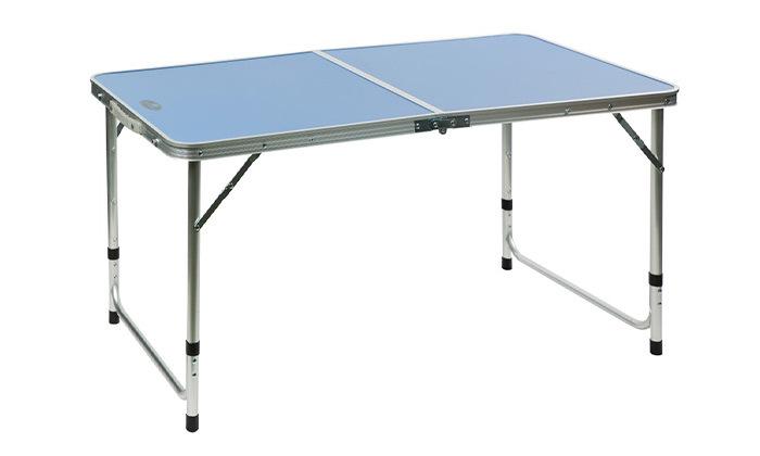 """4 שולחן פיקניק 120 ס""""מ מתקפל למזוודה"""
