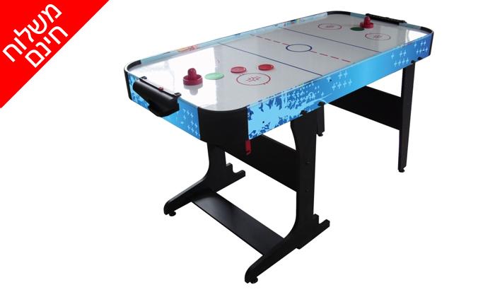 4 שולחן הוקי אוויר מתקפל ENERGYM sport - משלוח חינם