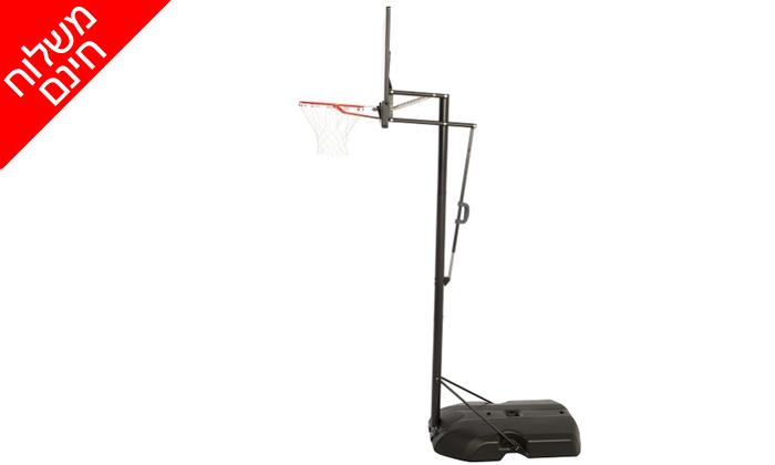 4 מתקן סל נייד ומתכוונן LIFE TIME, כולל משלוח חינם וכדור כדורסל