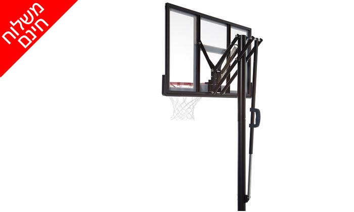 5 מתקן סל נייד ומתכוונן LIFE TIME, כולל משלוח חינם וכדור כדורסל