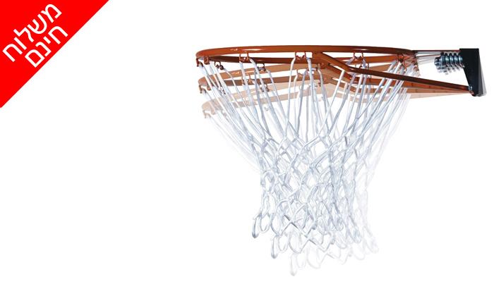 6 מתקן סל נייד ומתכוונן LIFE TIME, כולל משלוח חינם וכדור כדורסל