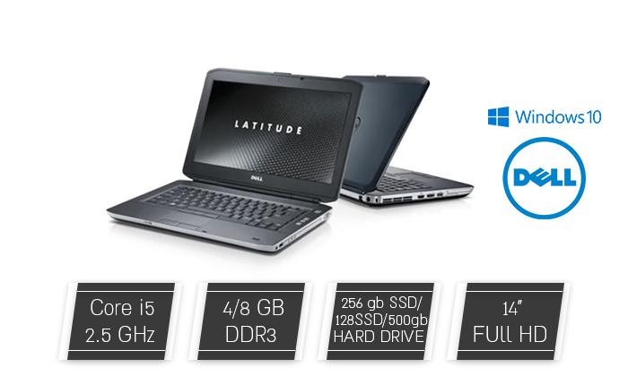 """2 מחשב נייד מחודש DELL דגם E5430 עם מסך """"14, זיכרון 8GB ומעבד i5"""