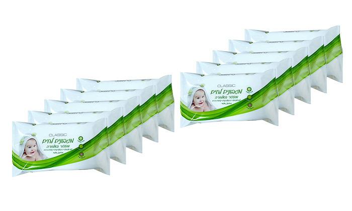 2 24 חבילות מגבונים לחים לתינוק מועשרים באלוורה CLASSIC