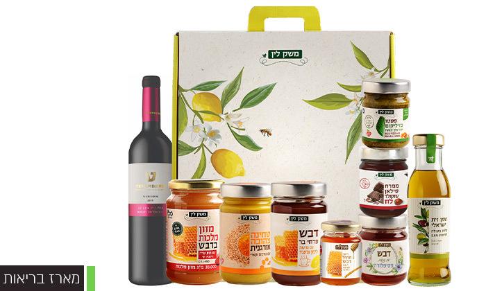 6 מארזי יין, דבש וממרחים ממשק לין - איסוף עצמי או משלוח בתשלום לכל הארץ