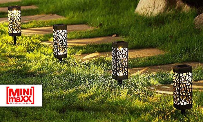 2 מארז 6 דוקרני תאורה סולאריים מעוצבים MiniMaxx