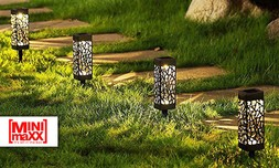 6 דוקרני תאורה סולאריים לגינה
