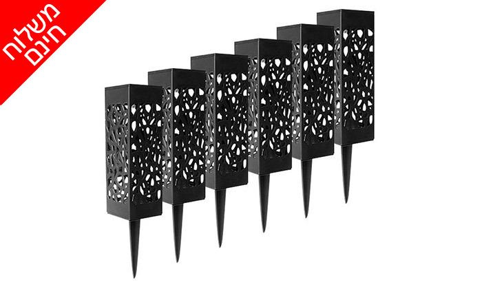 4 מארז 6 דוקרני תאורה סולאריים מעוצבים MiniMaxx - משלוח חינם