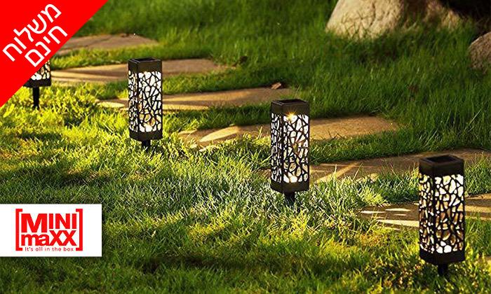 2 מארז 6 דוקרני תאורה סולאריים מעוצבים MiniMaxx - משלוח חינם
