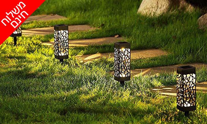 6 מארז 6 דוקרני תאורה סולאריים מעוצבים MiniMaxx - משלוח חינם