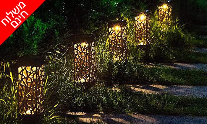 5 מארז 6 דוקרני תאורה סולאריים מעוצבים MiniMaxx - משלוח חינם