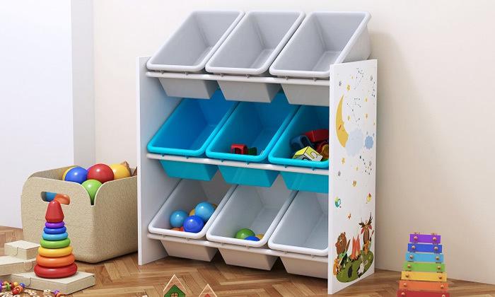 2 ארגונית 3 קומות לקופסאות צעצועים