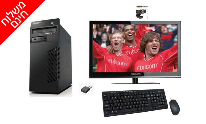6 מחשב נייח LENOVO בדגם לבחירה כולל מסך ואביזרים - משלוח חינם