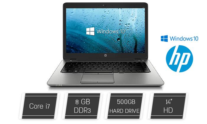 """2 מחשב נייד מחודש HP דגם 840 מסדרת EliteBook עם מסך """"14, זיכרון 8GB ומעבד i7"""