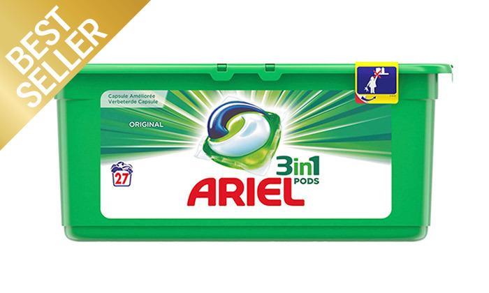 4 108 קפסולות ג'ל לכביסה אריאל ARIEL