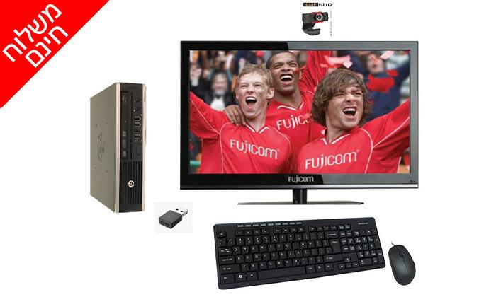 3 מחשב נייח מיני HP כולל מסך ואביזרים - משלוח חינם