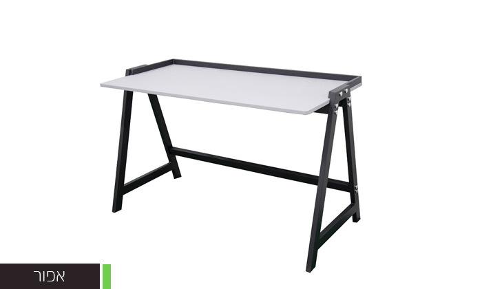 3 שולחן עבודה עם רגלי מתכת