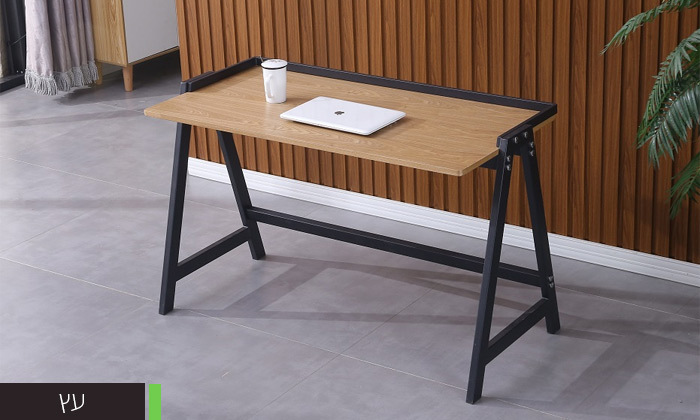 4 שולחן עבודה עם רגלי מתכת
