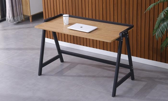 2 שולחן עבודה עם רגלי מתכת