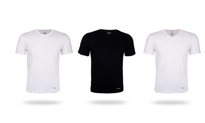 2 מארז 3 חולצות לגברים 100% כותנה קלווין קליין Calvin Klein