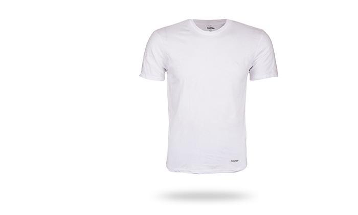 4 מארז 3 חולצות לגברים 100% כותנה קלווין קליין Calvin Klein