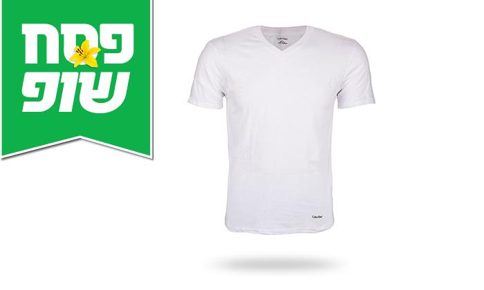 6 מארז 3 חולצות לגברים 100% כותנה קלווין קליין Calvin Klein
