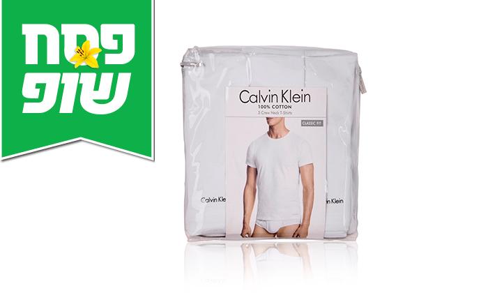 5 מארז 3 חולצות לגברים 100% כותנה קלווין קליין Calvin Klein