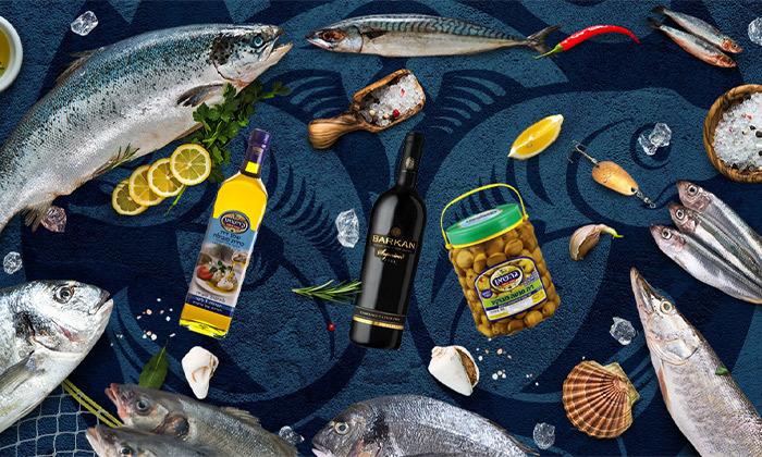 3 מארז דגים טריים ממעדניית ספיר דגים, משלוח חינם למגוון ערים