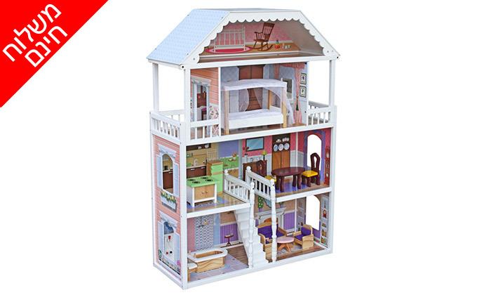 2 בית בובות ענק - משלוח חינם