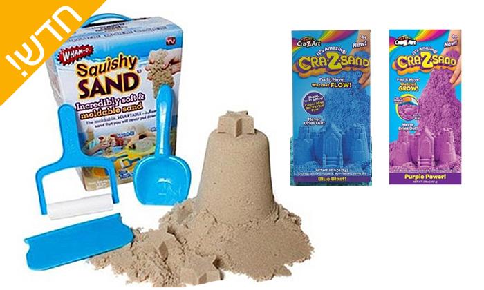 2 חול קינטי - מארז 2 מזוודות crazsand