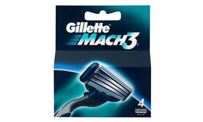 4 מארז ידית ו-17 סכיני גילוח ג'ילט Gillette Mach 3