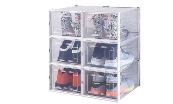 4 סט 6 קופסאות לאחסון נעליים