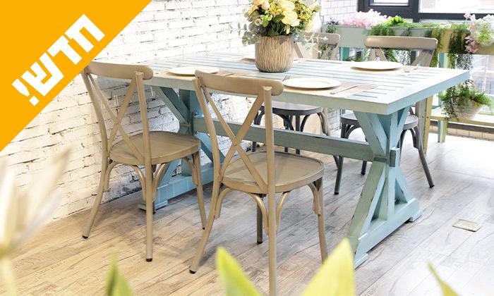 5 שולחן מלבני בסגנון וינטג' לגינה SUNRISE