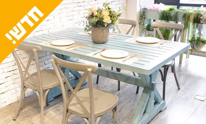 2 שולחן מלבני בסגנון וינטג' לגינה SUNRISE