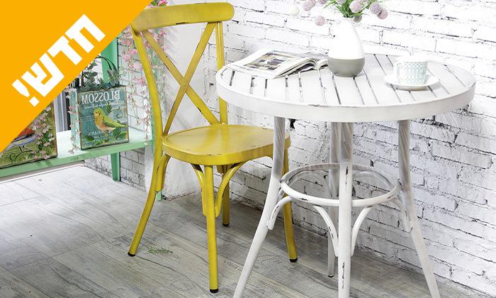 4 שולחן עגול בסגנון וינטג' לגינה SUNRISE